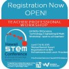 Registration is now OPEN for the 2015 Hawai`i STEM Conference Teacher Professional Development Workshops. You may register to attend either the Friday, April 17th session, the Saturday, April 18th session ...